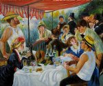 luncheon of the boating party v by pierre auguste renoir painting