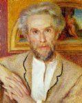 pierre auguste renoir portrait of victor chocquet painting
