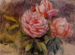 rose paintings - roses ii by pierre auguste renoir