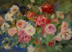 rose paintings - roses iii by pierre auguste renoir