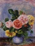 roses in a vase 3 by pierre auguste renoir painting