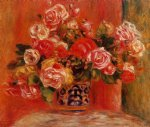 roses in a vase 5 by pierre auguste renoir painting