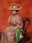 pierre auguste renoir seated woman ii painting
