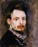 portrait paintings - self portrait ii by pierre auguste renoir