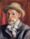 portrait paintings - self portrait iii by pierre auguste renoir