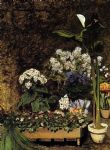 flower paintings - spring flowers by pierre auguste renoir