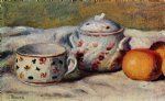 pierre auguste renoir still life with cup and sugar bowl painting
