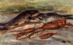 still life with fish ii by pierre auguste renoir painting