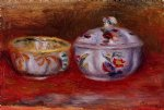 pierre auguste renoir still life with fruit bowl painting