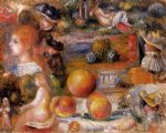 pierre auguste renoir studies woman s heads nudes landscapes and peaches painting-26276