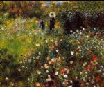 pierre auguste renoir summer landscape aka woman with a parasol in a garden painting 82979