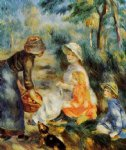 pierre auguste renoir the apple seller painting