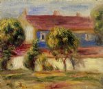 pierre auguste renoir the artist s house painting