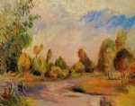 pierre auguste renoir the banks of the river ii painting