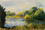 pierre auguste renoir the banks of the river oil paintings