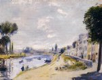 pierre auguste renoir the banks of the seine bougival art