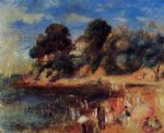 beach paintings - the beach at purnic by pierre auguste renoir