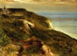 pierre auguste renoir the church at varengeville and the cliffs oil painting
