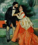 pierre auguste renoir the engaged couple art