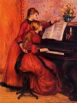 pierre auguste renoir the piano lesson oil painting