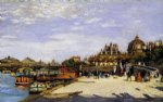 the pont des arts and the institut de france by pierre auguste renoir painting