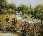 pierre auguste renoir the rose garden at wargemont 1879 painting 26405