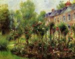 pierre auguste renoir the rose garden at wargemont painting 26406