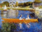 the seine at asnieres by pierre auguste renoir painting