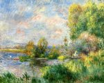 pierre auguste renoir the seine at bougival art