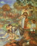 pierre auguste renoir the washer women painting