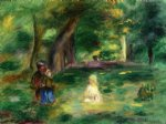 pierre auguste renoir three figures in a landscape painting 26429