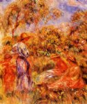 pierre auguste renoir three women and child in a landscape painting 26433