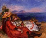 pierre auguste renoir two little girls on the beach painting 26447