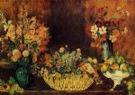 pierre auguste renoir vase basket of flowers and fruit painting 26467