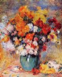 vase of chrysanthemums by pierre auguste renoir painting