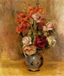 pierre auguste renoir vase of gladiolas and roses painting 26474