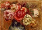 rose paintings - vase of roses iii by pierre auguste renoir