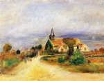 village by the sea by pierre auguste renoir painting