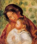 woman and child ii by pierre auguste renoir painting