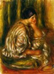 oriental paintings - woman in an oriental costume by pierre auguste renoir