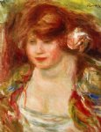 pierre auguste renoir woman wearing a rose painting 26551