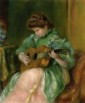pierre auguste renoir woman with a guitar painting-26672