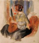 pierre auguste renoir woman with guitar painting-26569