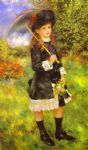 pierre auguste renoir young girl with parasol (aline nunes) painting