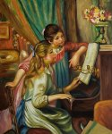 pierre auguste renoir young girls at the piano ii oil painting