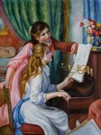 pierre auguste renoir young girls at the piano iii oil painting