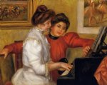 pierre auguste renoir young girls at the piano oil painting