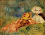 young girls by the water by pierre auguste renoir painting-26610