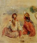 pierre auguste renoir young girls on the beach painting 26611