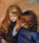 young gypsy girls by pierre auguste renoir painting-26613